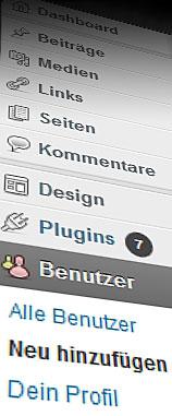 Wordpress-Benutzer neu hinzufuegen